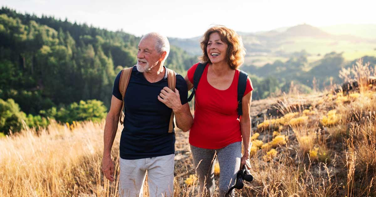 couple hiking after ketamine for rls treatment memphis tn